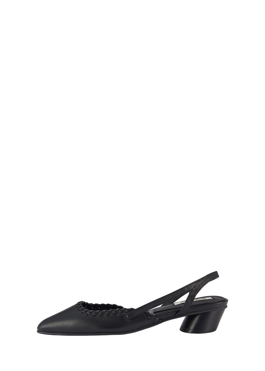 Asymmetry Low Heel Slingback